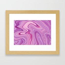 Purple Liquid Marble Framed Art Print