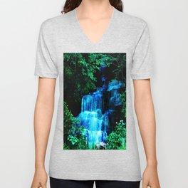 Enchanted waterfall. Unisex V-Neck