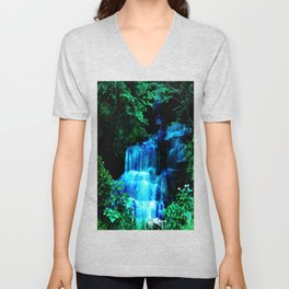 Enchanted waterfall. Unisex V-Neck