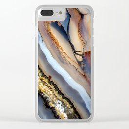 Agate astract Clear iPhone Case
