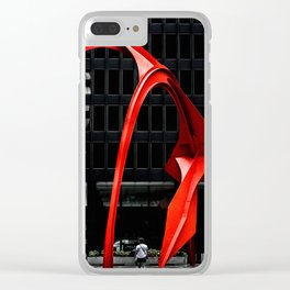Red Flamingo Clear iPhone Case