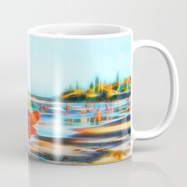 Surf Rescue on beautiful beach Coffee Mug