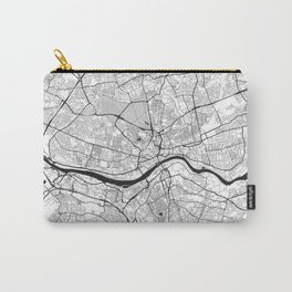 Newcastle upon Tyne Map Gray Carry-All Pouch