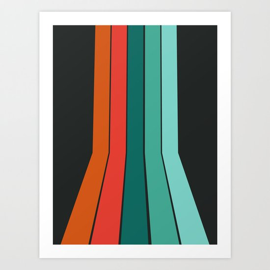 Flipside - 70's style trendy throwback retro gifts 1970s abstract art Art Print