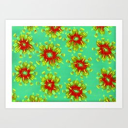 Green Christie Rose Art Print