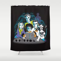 fringe Shower Curtains featuring Fringe Zoinks Gene by Zinggia