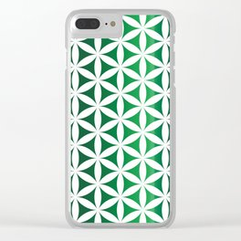 Green seed of life pattern Clear iPhone Case