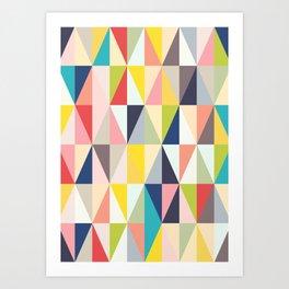 Abstract Geo Diamonds Art Print