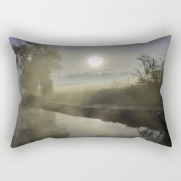 First Frosty Morning on Oxford Canal Rectangular Pillow