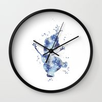 olaf Wall Clocks featuring Olaf Frozen Disneys by Carma Zoe