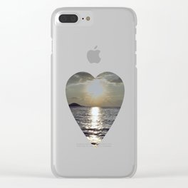 Island sunrise Clear iPhone Case