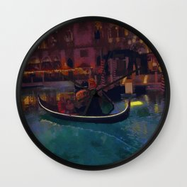 Venice Romantic Gondola Cruise Wall Clock