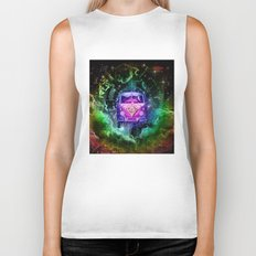 galaxy vintage voyager world map design 1 Biker Tank