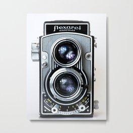 Flexaret Vinatge Camera Metal Print