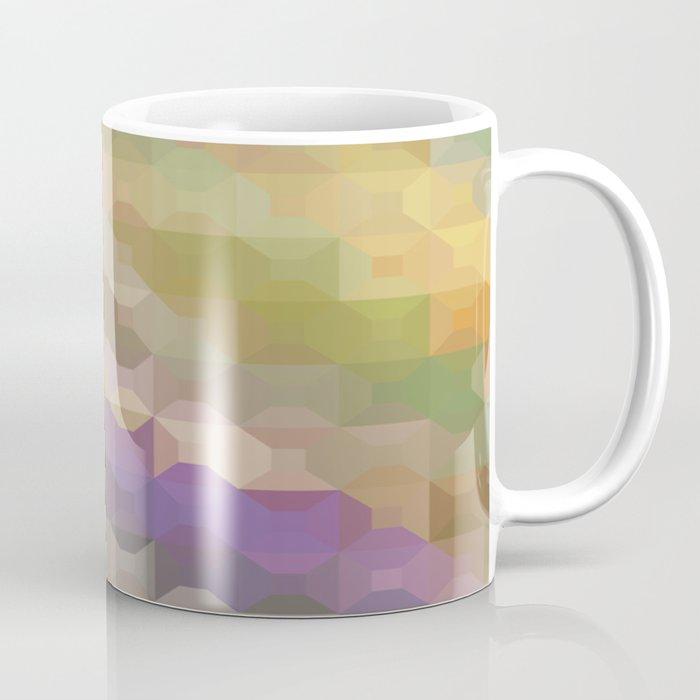 Soft Colored Rainbow Geometric Design Coffee Mug