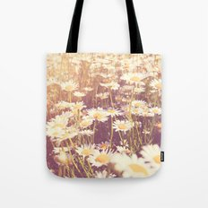 We need each other. Field of daisies photograph. Tote Bag