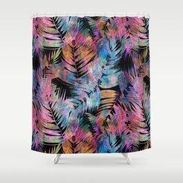 Waikiki Tropic {Black} Shower Curtain