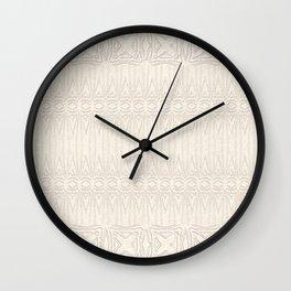 Cream and Coffee Chenille Digital Pattern Wall Clock
