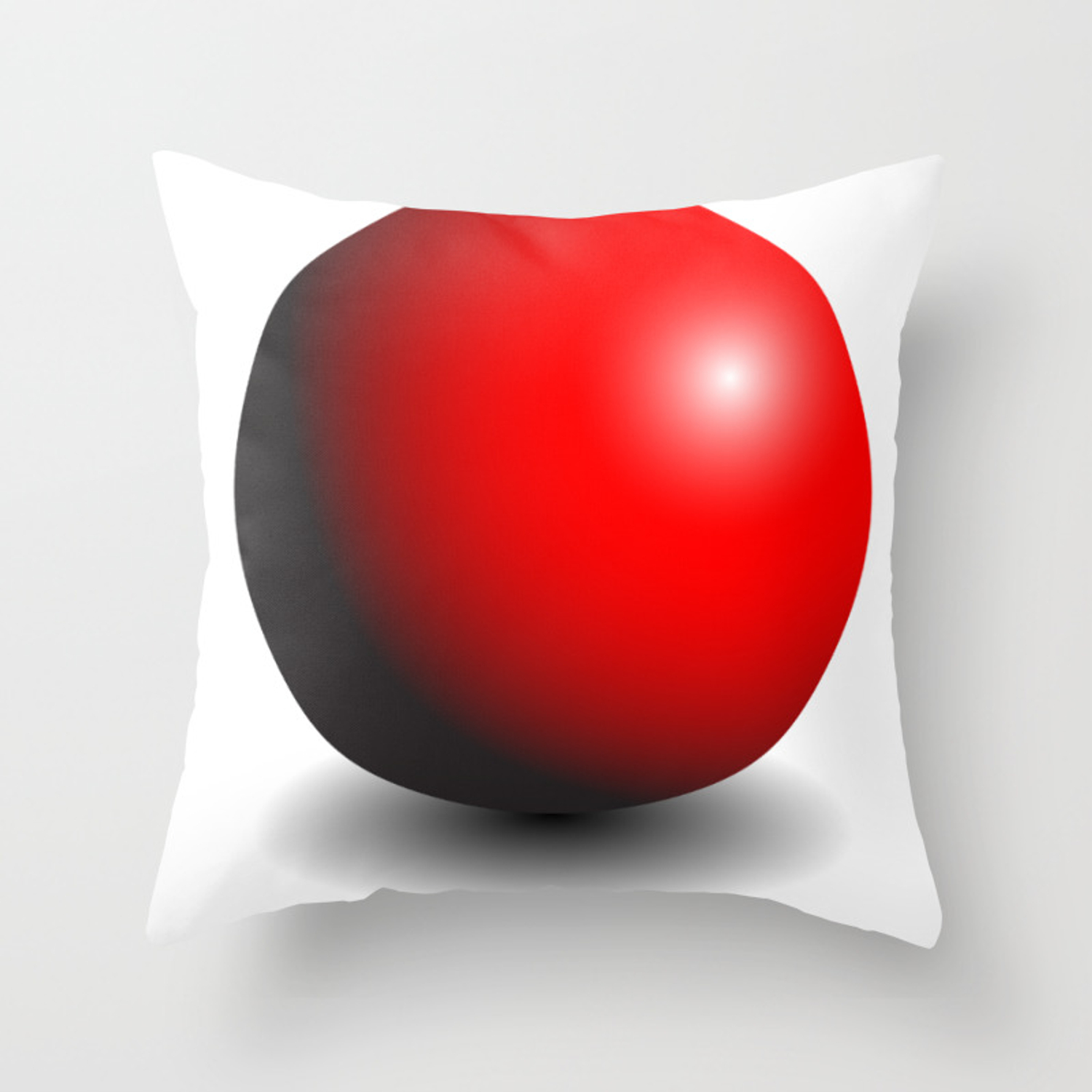 Red Gradient Sphere Throw Pillow By Deathtopaparazzi Society6