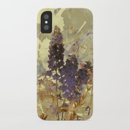 floral on beige iPhone Case