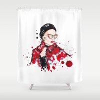 vogue Shower Curtains featuring VOGUE by CARLOS CASANOVA