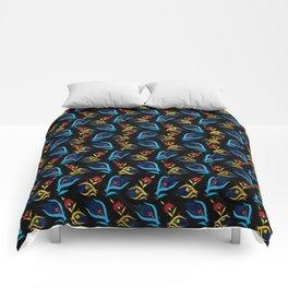 Turkish tulip - Ottoman tile pattern 2 Comforters