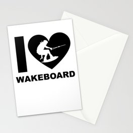 Wakeboarding waterskiing Stationery Cards