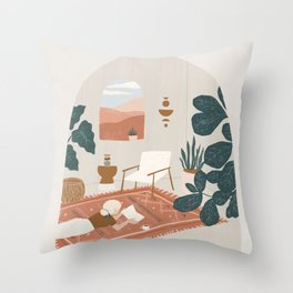 the living room rug Throw Pillow