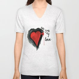 There goes my love Unisex V-Neck