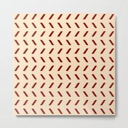 Funnies stripes 28 ceramic colors Metal Print