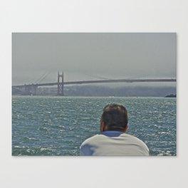 The Golden Gate Man Canvas Print