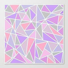 Pastel Shards Geometric Pattern Canvas Print