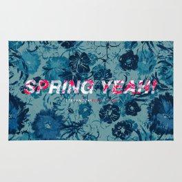 Spring Yeah! - Blue Flowers Rug