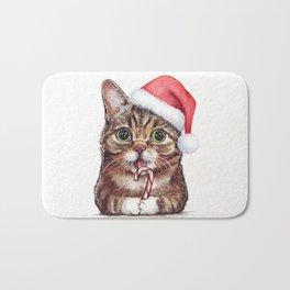 Christmas Animal Santa Cat Bath Mat