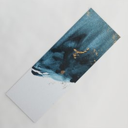 Sapphire and Gold Abstract Yoga Mat