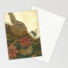 The Rabbit and the Bee Stationery Cards