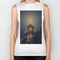 eiffel tower Biker Tanks featuring Eiffel Tower  by cchelle135
