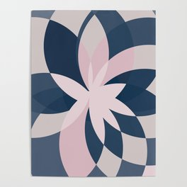 Rose Blue Bloom Poster