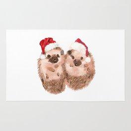 Christmas Twin Hedgehog Rug
