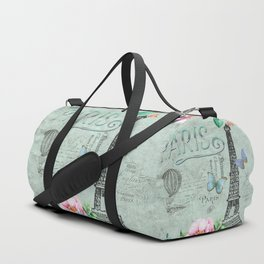 Paris - my love - France Eiffeltower Nostalgy - French Vintage Duffle Bag