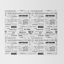 302a collage Throw Blanket