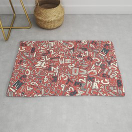 A1B2C3 coral red Rug