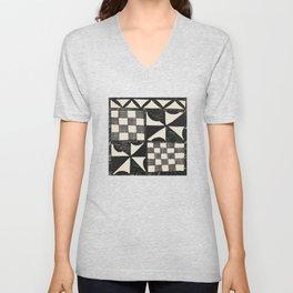 Tapa Cloth | Pacifica Patterns | Tribal Art Unisex V-Neck