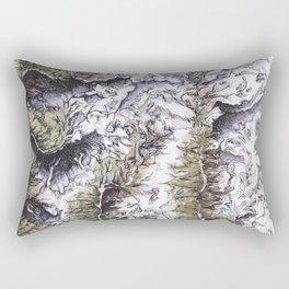 Saribung, Nepal - Watercolor and Ink artwork Rectangular Pillow