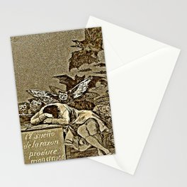 """Caprice No. 43, """"The Sleep of Reason Produces Monsters."""" Stationery Cards"""