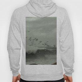 Birds dancing in the waves Hoody