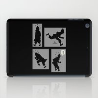 tintin iPad Cases featuring Tintin, Silhouetted by Faellen