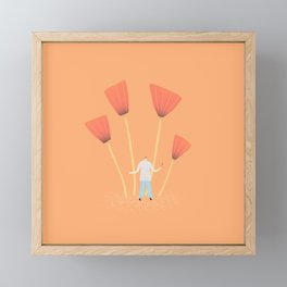 man carrying a tulip Framed Mini Art Print