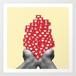 Likes and Follow Art Print