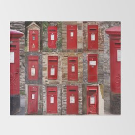 Postboxes of Old England Throw Blanket